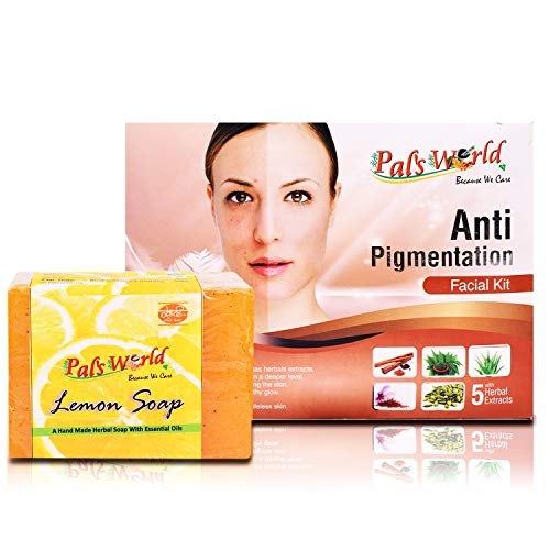 Pal's World Anti Pigmentation Facial Kit/Prevent pimples/clear skin/cleansing/and Lemon Soap with lemon extracts for your face/freshness