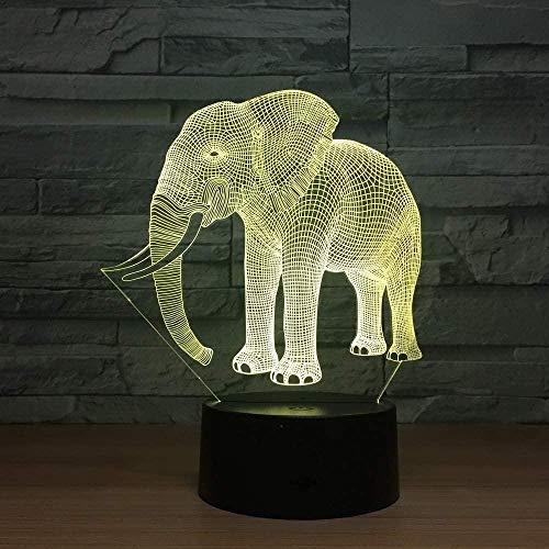 Elephant 3D-LED-Lampe Acrylplatte Kleiner Stecker für intelligente 3D-Leuchten Buntes USB-LED-Nachtlicht