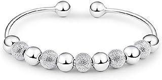 skyllc Fashion Transfer Lucky Beads Bracelet Charming Open Cuff Bangle Bracelet Hand Chain Women Jewelry Accessories