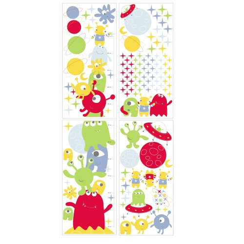 The Gro Company Height Chart Sticker Set Alfred and The Aliens