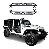 Jeep Wrangler Side Step Armor for 2007-2018 Jeep Wrangler JK Unlimited 4 Door Blade Nerf Bars Running Boards Rock...