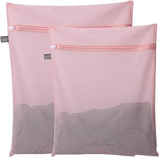 Kimmama Mesh Laundry Bag for Delicates, Lingerie Bag for Laundry, Bra, Underwear, Blouse, Shoes, Sock, Dress, T-Shirt (Pink,2 PCS)