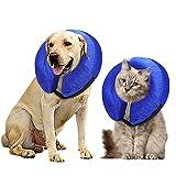 icyant Collare a cono gonfiabile per cani, XL collare per cani di recupero protettivo per dopo l'intervento chirurgico collare elisabettiano regolabile Cono morbido per animali domestici per cani gatt