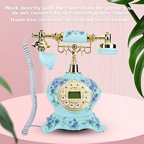 Teléfono antiguo de operación simple Teléfono fijo para el hogar, para dormitorio, sala de estudio y otros lugares.