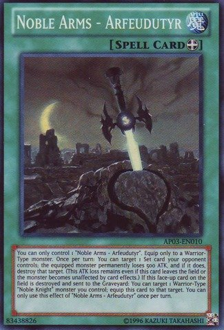 Yu-Gi-Oh! - Noble Arms - Arfeudutyr (AP03-EN010) - Astral Pack: Booster Three - Unlimited Edition - Super Rare