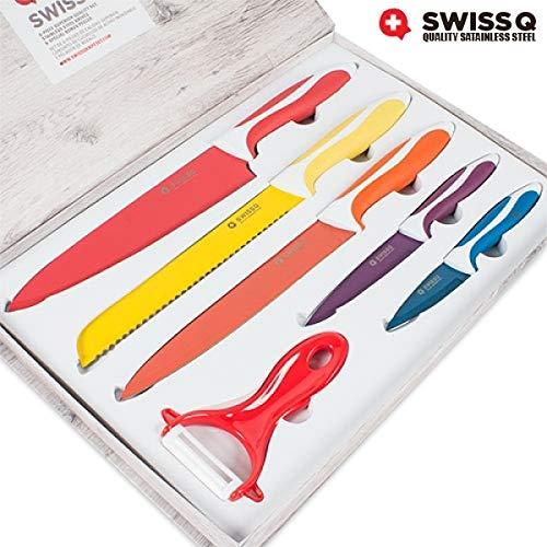 Coffret de couteaux Swiss Q 5 couteaux et 1 économe