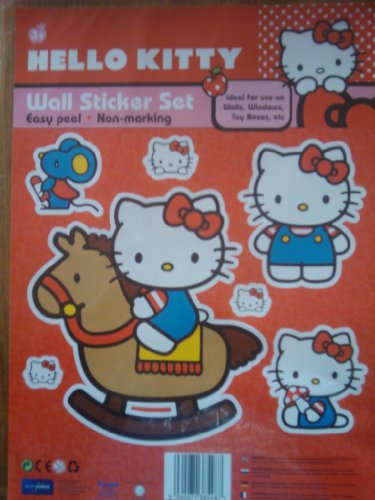 Set di adesivi da parete di Hello Kitty - cavallo a dondolo
