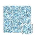 FloorPops FPF3752 Belize Interlocking Floor Tiles, Blue