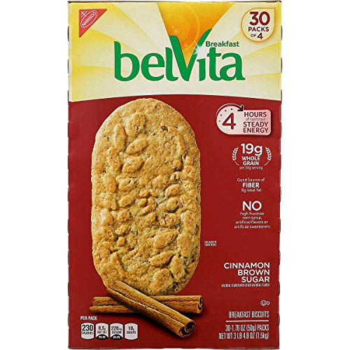 Belvita Cinnamon Brown Sugar Biscuits 176 oz 30Count 4 Pack