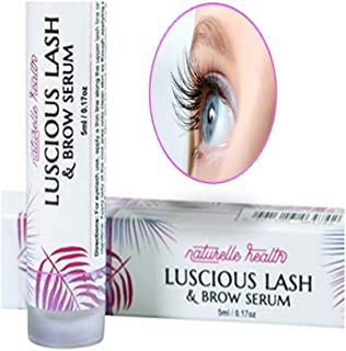 27db6cd37a6 Naturelle's Luscious Lash Advanced Eyelash and Eyebrow Growth Serum with  Widelash, Helps Produce Up to