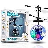 Volando juguete bola infrarroja inducción volando juguete incorporado led discoteca helicóptero brillante colorido volando e interior al aire libre juegos juguetes para 1 2 3 4 5 6 7 8 9 9 años de eda
