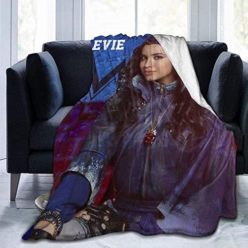 Inhomer Decke/Decke Descendants 3 Evie Winter Ultraweiche Micro-Fleece-Decke Mode leichte Decke für Sofa und Bett 152 x 127 cm, Schwarz _ 127 x 101,6 cm
