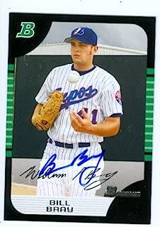 Autograph Warehouse 44631 Bill Bray Autographed Baseball Card 2005 Topps Bowman No .147 Montreal Expos