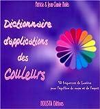 Dictionnaire d'applications des couleurs