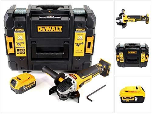 DeWalt DCG 405 NT Akku Winkelschleifer 18V 125mm Brushless + 1x Akku 5,0Ah + TSTAK - ohne Ladegerät