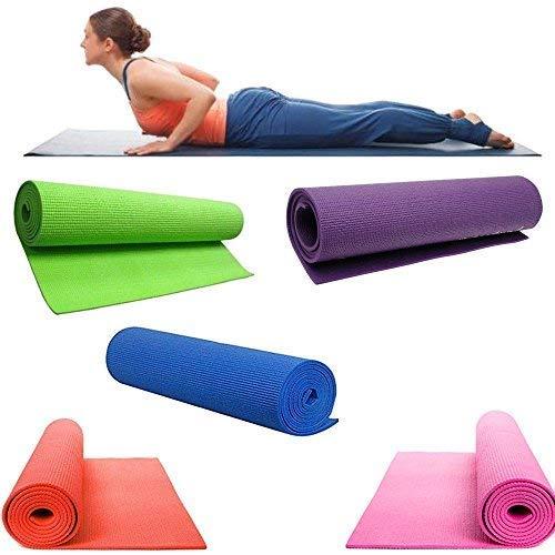 SLS SHOP Tappetino per Yoga Tappeto Palestra per Esercizi Fitness Aerobica Pilates Ginnastica MATERASSINO 1,2MTX60CM Circa Colori Vari Casuali