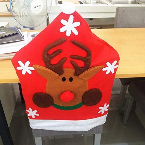 Serria® Santa Claus Küchen Stuhlhussen Vlies Weihnachtsschmuck Snowflake Stuhlhussen 50 * 65cm Home Party Dekoration rot