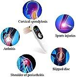 NRO -2021- Alivio del dolor de la unidad de dispositivo de terapia con láser frío LLLT Unidad de mano portátil de luz roja 650nm + 808nm (enchufe del Reino Unido) con rodillo de masaje 3D