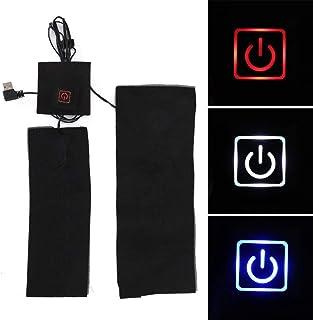 Alfombrilla calefactora, compuesto de fibra USB impermeable impermeable flexible impermeable calentador almohadilla con control de temperatura de 3 modos, adecuado para chaleco