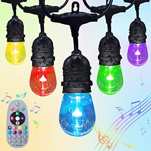 Fmix Color Changing Outdoor String Lights 24FTS RGB String Lights Weatherproof Shatterproof product image