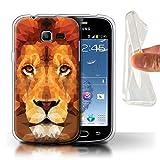 Coque pour Samsung Galaxy Trend Lite/S7390 Animal Géométrique Faune Lion Africain Désign Transparent Doux Silicone Gel/TPU...