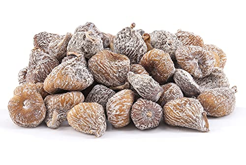 Figues séchées espagnoles | 2 kg de figues sèches, déshydratées | Sans sucre ajouté | Grandes, Crues et entieres | Riche en fibres et minéraux | IDEAL comme SNACK | Végans | sac refermable | Dorimed