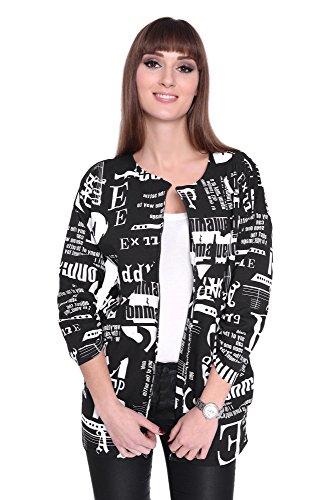 AE Cardigan Sweater Jacke mit Druck Gr. S M 36 38, 1082 S/M 36/38 Schwarz