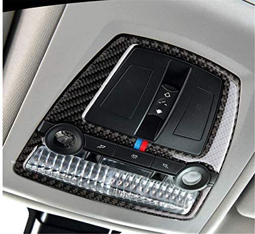 Carbon Fiber Interior Front Reading Light Lamp Frame Decal Cover Trim for BMW 5 Series 6th F10 product image