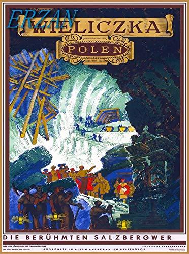 ERZANメタルポスター壁画ショップ看板ショップ看板ヴィエリチカポーランドポーランドポーランドヨーロッパヴィンテージ旅行広告インテリア 看板20x30cm