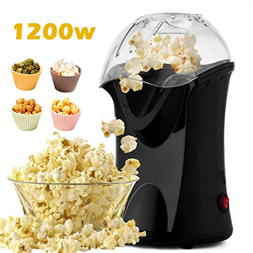 Find Discount 1200W Popcorn Maker, Popcorn Machine, Hot Air Popcorn Popper Healthy Machine No Oil Ne...