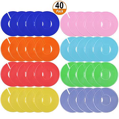 40 Stücke Kleidungsgrößen Teiler Leerer für Aufhänger Teiler Kleidung Klassifizierung Label zum Schreiben für Bekleidungsgeschäft Kleidungsgrößen Teilen