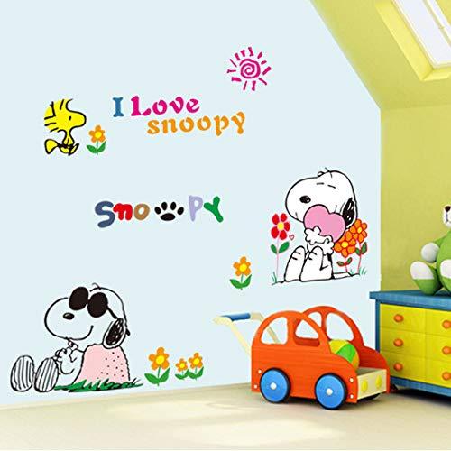 ahjs456 Tres-generación De Pegatina De Pared Al por Mayor De Dibujos Animados De Pared Perro Snoopy Pegatina Infantil Habitación De Kindergarten Decorativo Pegatina 50 * 70cm