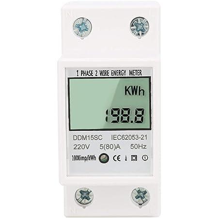 80 5 A 220V 230V 50HZ 60HZ Single Phase Din Rail KWH Watt Hour Energy Meter