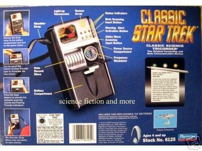 Star Trek Science Tricorder von 1995 - Filmwelt Rarität mit Licht und Sound und Exclusivem Copernicus Pin