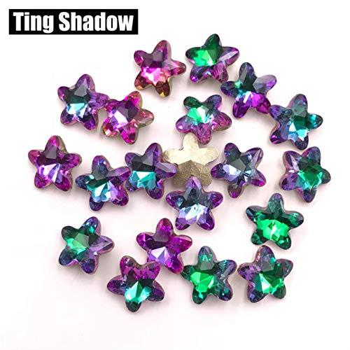 MFKW 8mm 72 stuks 3D nagelstrass sterren pointback kristallen lijm op edelstenen nagel kristal diamant nagel decoraties accessoires