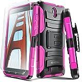 ZTE ZMAX 2 Case, Evocel [Generation Series] Belt Clip Holster, Kickstand, HD Screen Protector, Dual Layer for ZTE ZMAX 2 (Z958 / 2015 Release), Pink (EVO-ZTEZ958-AB205)