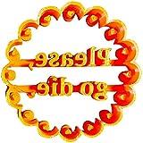 Tramile Moldes de galletas con letras inglesas con buenos deseos, plástico reutilizable para hacer galletas, utilizados para hacer galletas para fiestas infantiles, C