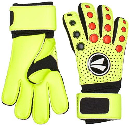 JAKO TW Handschuh Dynamic Classic-Normalnaht Torwarthandschuh, Neongelb/Schwarz/Rot, 9.5
