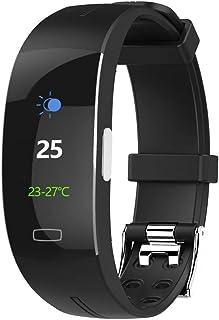 SHOUHUAN Pulsera de Actividad Inteligente Reloj Pulsómetro Hombre Mujer Medidor Presión Arterial Reloj de Actividad Sueño GPS Impermeable IP67 Reloj Podómetro para Android y iOS Black Silver