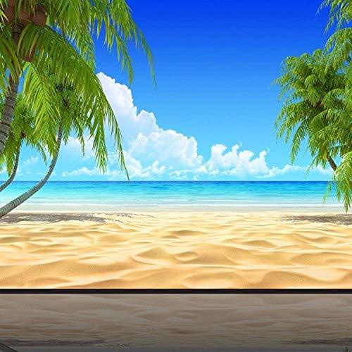 Fotobehang - Sun Beach Landscape Non-Woven muurschildering voor Premium Art Print Poster Picture Design Moderne Slaapkamer Woonkamer Woonkamer Woondecoratie 350x256 cm/137.79x100.78 inch - 7 Strips