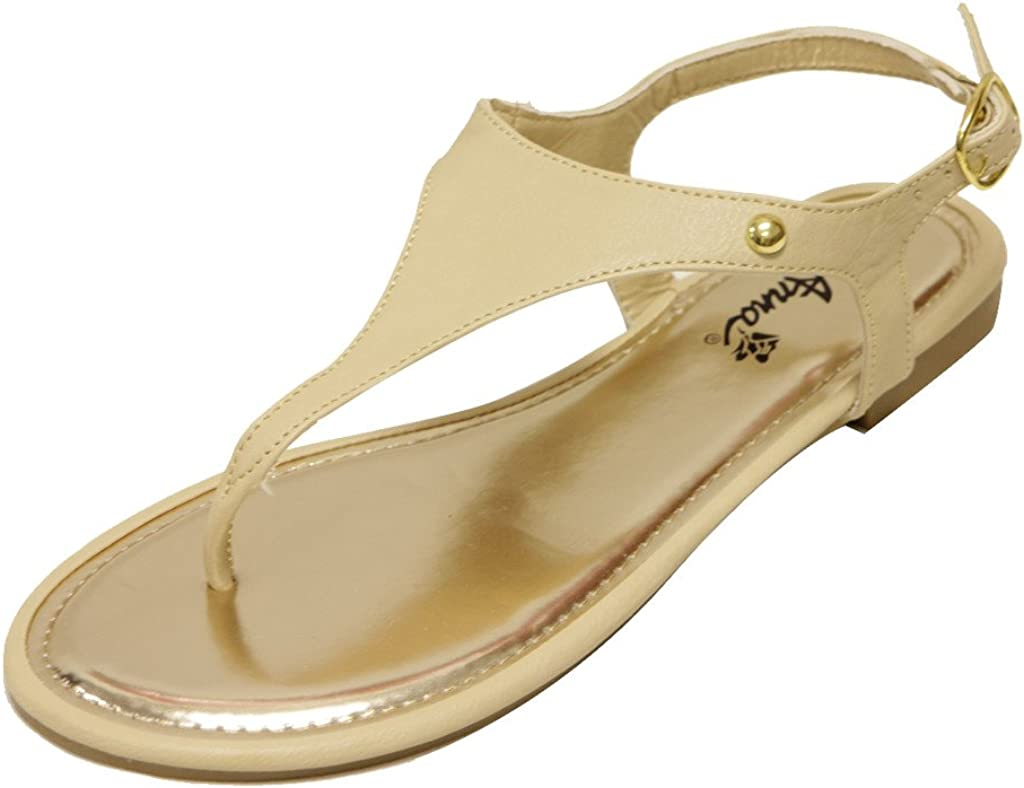 ANNA Lux-100 Women's Thong Toe Slingba Decor Sale SALE% Over item handling OFF Upper Stud Triangle