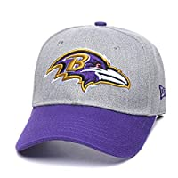 Eras edge Adult Men's Challenger Baseball Cap, Adjustable All-Star Baseball Hat (Baltimore Ravens)