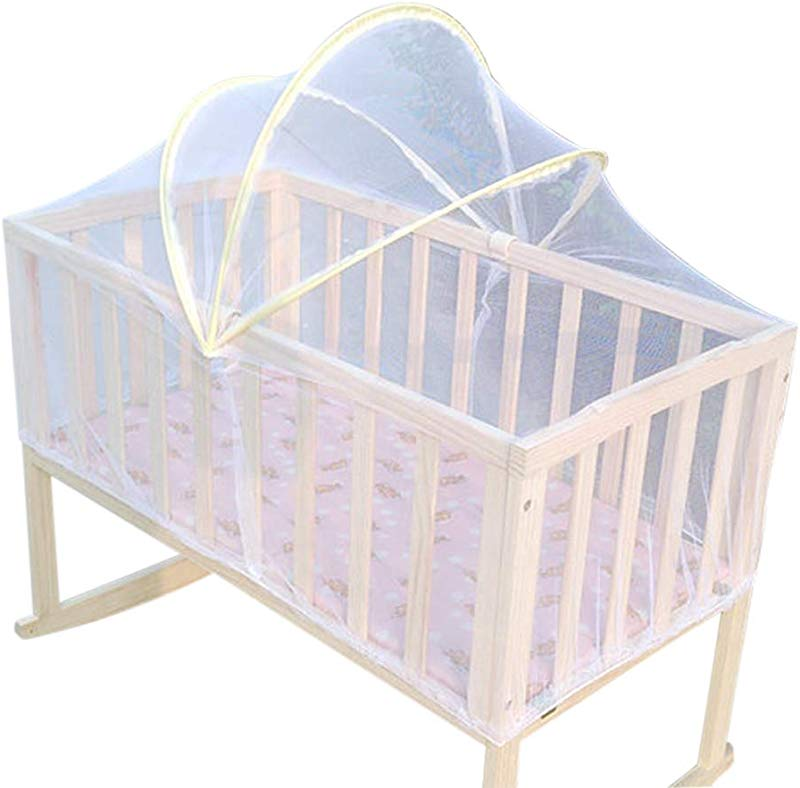HHDWQKJ Baby Cradle Mesh Mosquito Net Foldable Portable Crib Netting Crib Canopy Cover Crib Tent