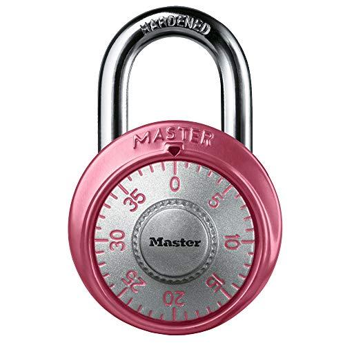 Master Lock 1530DPNK Locker Lock Combination Padlock, Pink