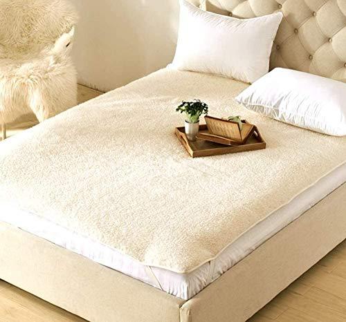 Hewei Matrasbeschermer, dik, pluche, met gevoerde coating, vloertapijt van tattami, voor slaapkamer, bank, auto, wol op de vloer, 135 x 200 cm