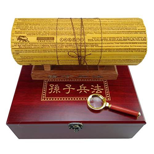 OPW Bamboo Slips Sun Tzu l'art de la Guerre Rétro Double Dirac Sculpteur Livre Chinois/Anglais Traduction des stratégies pour Gagner sans conflit, boîte-Cadeau