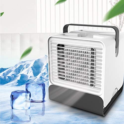 Raffreddatore d'aria personale, condizionatore di condizionatore raffreddato ad acqua, raffreddatori evaporativi per ventilatore di raffreddamento personale, per dormitorio a casa, bianco