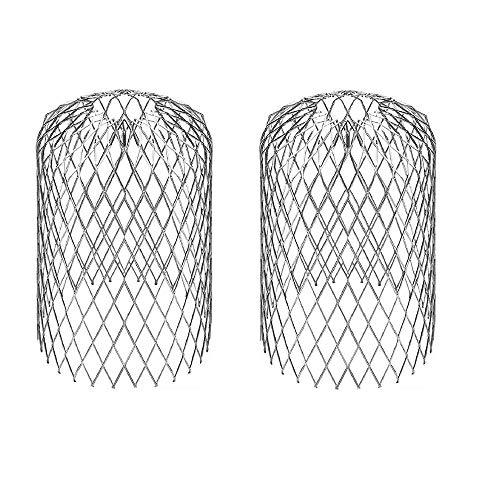 Xkfgcm 2 piezas Filtros del Canalón Expandible Filtro de Hojas de Aluminio Colador Filtro Protectores de Metal Hojas para Canalón de Colador Herramienta de Jardinería Anti-Bloqueo Protector