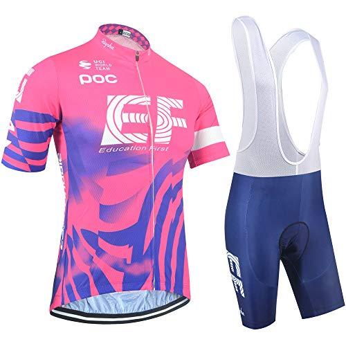 XIAKE Conjunto Traje Ciclismo para Verano, Maillots Ciclismo Mangas Cortas y Culotte Pantalones Cortos Bicicleta, Mujer Equipacion Ciclismo