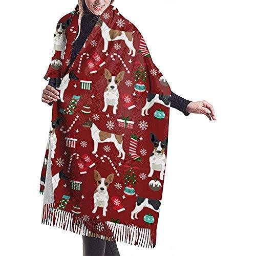 Cathycathy Ratte Terrier Kerstmis hond vakantie hond Kerstmis burgund sjaal wikkelen winter warme sjaal cape grote zachte sjaal wikkelen